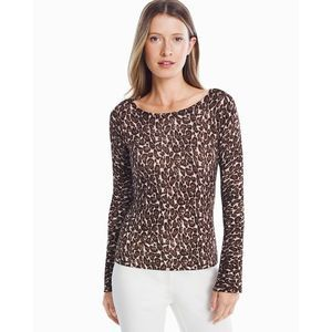 White House Black Market Leopard Pullover Sweater